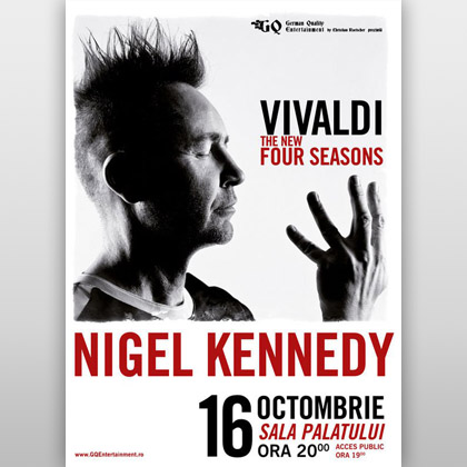 Nigel Kennedy – The New Four Seasons, pe 16 octombrie, la București